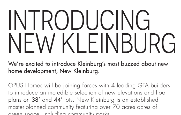Introducing New Kleinburg