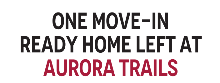 One MOVE-IN READY Home LEFT at Aurora Trails