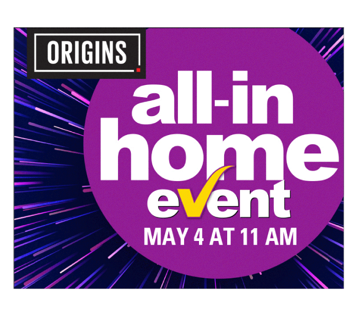 The All-In Home event at Origins is the best time to buy a home in West Brampton. There are no surprises. We're including all the fees upfront*, so the price you see is the price you pay. You will also receive some of our most popular upgrades free of charge. Plus, take advantage of our limited time incentives on all phase 1 towns, semis and detached homes.