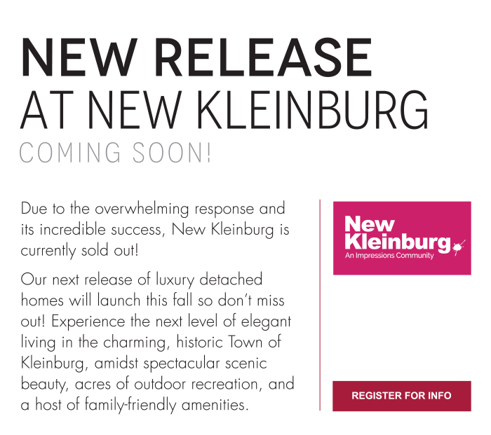 NEW RELEASE  at New Kleinburg Coming Soon!