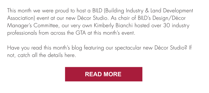 Have you read this month's blog featuring our spectacular new Décor Studio? If not, catch all the details here. Read More