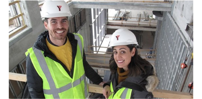 Clearly, Andrea DeGasperis-Ronco and Peter Cortellucci are equally comfortable navigating a bustling construction site as they are negotiating in a corporate board room.