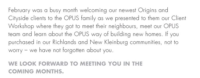 We Look Forward To Meeting You In The Coming Months.