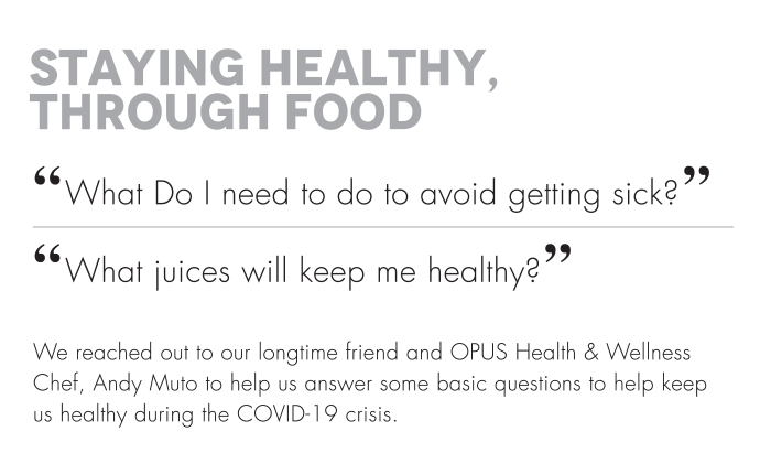 """Staying Healthy, Through Food """"What Do I need to do to avoid getting sick?"""" """"What juices will keep me healthy?"""""""